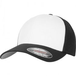 Flexfit - Mesh Colored Front Black Flex Trucker Sapka