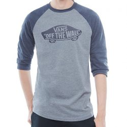 Vans - OTW Raglan Heather Grey Navy Heather Hosszú Ujjú Póló