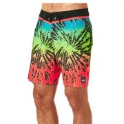 Quiksilver - Glitched Fiery Coral Beach Short