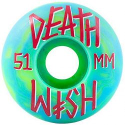 Deathwish - Stacked Green Blue Swirl (51mm) gördeszka kerék