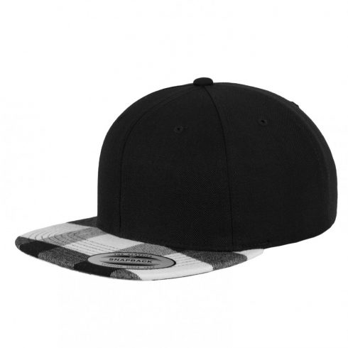 Flexfit - Checked Flanell Peak Snapback White Sapka