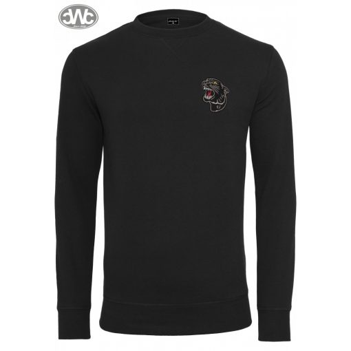 Embroidered Panther Crewneck