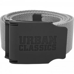 Urban Classics - Rubbered Touch Grey Vászon Öv